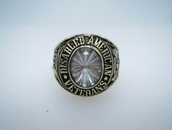 Ring , Solid 10k Gold Ring , Disabled American , Veterans , Us Size 9