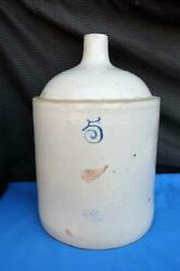 Red Wing 5 Gallon Pottery Jug Union Stoneware Co Antique Crock Redwing Mn