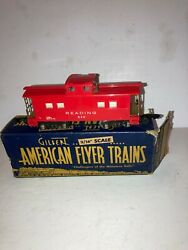 American Flyer S Scale 630 Reading Illuminated Caboose, Ob