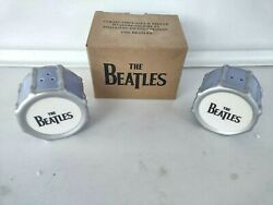 The Beatles Collectible Salt And Pepper Shaker Set 2006 Apple Corps Limited In Box