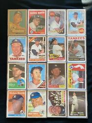 Mickey Mantle /1952 Randn China Porcelain Reprint Full 16 Card Set W/ Gold Rookie