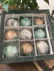 Nwb Krebs Glas Lauscha Glass Baubles Ornaments Lot 9 Made In Germany