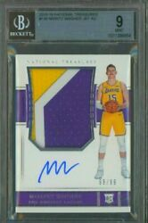 2018-19 National Treasures Moritz Wagner 3-color Patch Rc Auto 99/99 1/1bgs 9