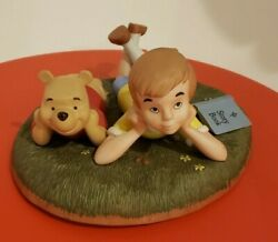 Disney Pooh And Friends Figurine Pooh Christopher Robin Limited Edition 1999 Vtg