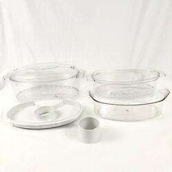 Oster Food Steamer Bowls Upper And Lower Lids Drip Tray Heat Sleeve Model 5712