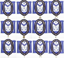 Masonic Aprons And Regalia 100 Real Leather Blue Lodge Chain Collar With Jewels