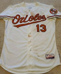 2015 Manny Machado Game Used Multi Hr Baltimore Orioles Jersey Padres Mlb Holo