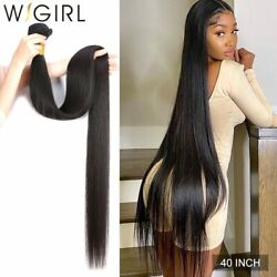 Straight Remy Brazilian Hair Weave Bundles Natural Color Human Hair Extension