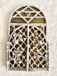 Judaica Important And Rare Silver Brass Modern Mezuzah Case Michael Ende Israel