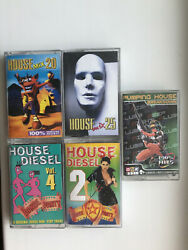 Set 5 Audio Cassettes House Mix/ Pumping House / Diesel House Russia 2000's