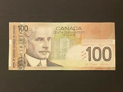 2004 Bank Of Canada 100 Banknote Bc-66a [old Canadian One Hundred Dollar Bill]