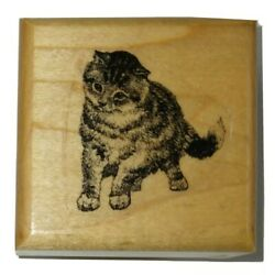 Kitty Cat Marks Of Distinction Pet Animal Rubber Stamp