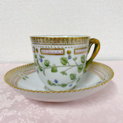 Royal Copenhagen Flora Danica Coffee Cup And Saucer Made In Denmark New