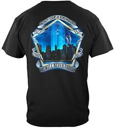 Firefighter 9/11 September 11 20 Anniversary Never Forget Remembrance T-shirt