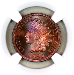 1899 Pf65 Rb Ngc Indian Head Penny Proof Example Superb Eye-appeal