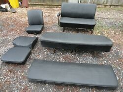 1968 To 1974 Volkswagon Van Bus Seat Set Front Middle Rear Reupholstered Fronts