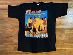 """Vintage 90s """"new Edition"""" Rap Tee """"home Again"""" Kp Size Xxl"""