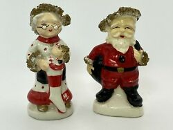 Antique Vintage Kelvin Exclusives Mr. And Mrs. Santa Clause Salt And Pepper Shakers