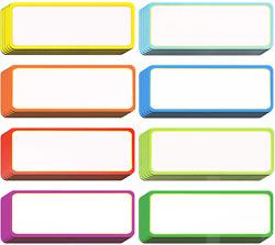 40 Pieces Magnetic Dry Erase Labels Name Plate Tags Flexible Magnetic Label Stic
