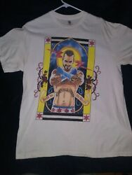 New Rare Wwe Cm Punk Second City Saint/best In The World T-shirt Size L
