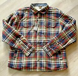 Tailor Vintage Nwt Menand039s Xl Countryside Plaid W/ Sherpa Lined Shirt Jacket 128