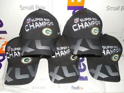 Green Bay Packers Super Bowl Xlv 45 Nfl Champions Hat Brand New Nwt Lot 5 Hats
