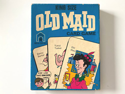 Vintage Old Maid Circus Card Game - King Size 3292 Edu-cards 1973