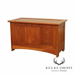 Stickley Mission Collection Arts And Crafts Cherry Inlaid Blanket Chest