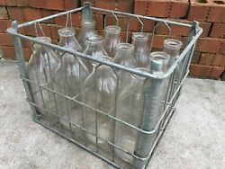 Vintage Milk Crate And Bottles Garden State Farms 11/1965 New Jersey