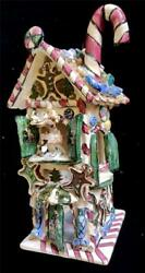 Blue Sky Christmas Collection Heather Goldminc Rudolph's Gingerbread Bakery +box