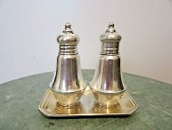 Vtg Duchin Creation Sterling Weighted Salt And Pepper Shakers Glass Lined 3 1/4