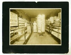 Photograph –store Interior – Large Postcard Display Spinner