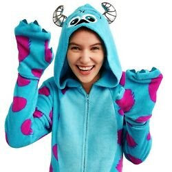Sulley Monsters Inc Union Suit Size 3xl 3x Womens Costume One Piece Pajamas Mens