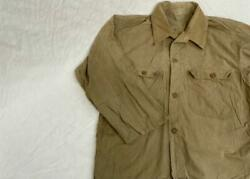 Ww2 Former Jp Army Nco Military Heat Protection Open Collar Shirt Jacket Japan