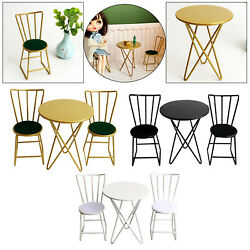 1/6 Scale Vintage Dollhouse Metal Table And Chairs Set For Living Room