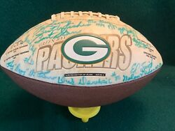 """Green Bay Packers-signed In Person """"living Legends"""" Football By 31 Players-loa"""
