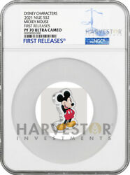 2021 Disney Figure Coin Series Mickey Mouse - Ngc Pf70 First Releases