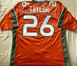 Sean Taylor Miami Hurricanes 2001 Authentic Nike Orange Xl Jersey Big East Patch