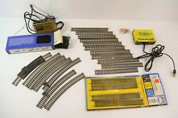 Ahm Ho Scale Model Train Tracks And Thunderline Power Pack Straight Curved Lot