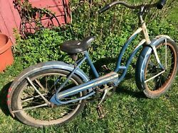 1930s Girls Bicycle Original Condition Troxel Seat 20 In. Tires