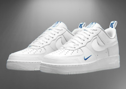 Nike Air Force 1 Lv8 Shoes White Game Royal Blue Dn4433-100 Men's Multi Size New