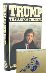 Donald J. Trump Trump The Art Of The Deal Signed 1st 1st Edition 3rd Printing