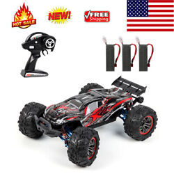 F14a Rc Car High Speed 1/10 70km/h 4wd Brushless 3battery Toy W/metal Parts L0q0