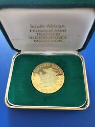 1976 South Africa Trankei Independence 18ct Gold Medallion Agw 0.9645oz