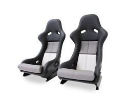 Rs Seat Pair 911 964 993 In Grey/white Leather Like Original
