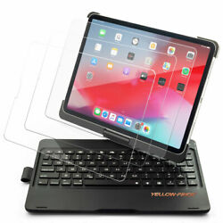 For Ipad Pro 11 3rd Wireless Bluetooth Keyboard Case 360 Rotatable With Screen
