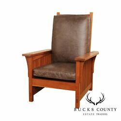 Stickley Mission Collection Cherry Spindle Morris Chair