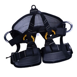 Professional Tree Climbing Safety Seat Harness Rappelling  Sit Bust Belt