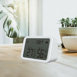 Indoor Thermometer Hygrometer With Lcd Screen For Room Garden Basement