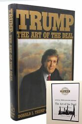 Donald Trump Trump The Art Of The Deal Signed Election Edition